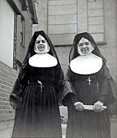 Sister Martin dePorres and Sister Agnes Eugene 1961
