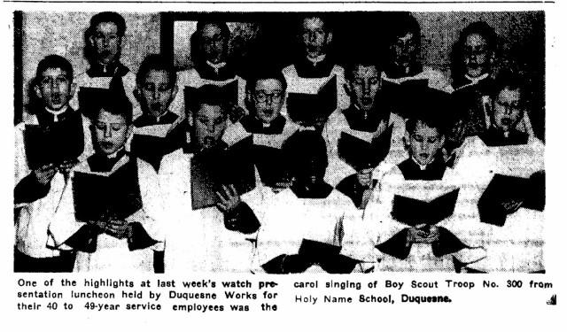 Holy Name Choir 1953