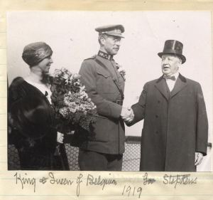 The King and Queen with the Gov. Stephens of California