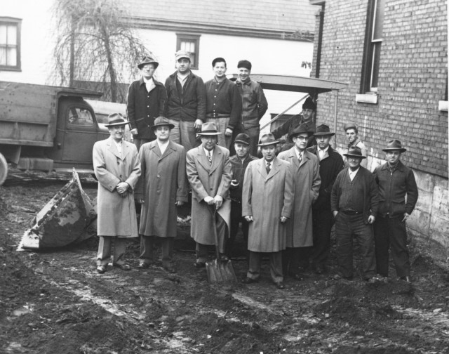 Duquesne Slovak Club Groundbreaking 11-27-1952