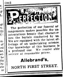 Funeral Home 2 Oct 18 1918